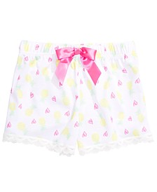 Little & Big Girls Pineapple-Print Pajama Shorts, Created for Macy's