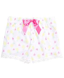 Max & Olivia Little & Big Girls Pineapple-Print Pajama Shorts, Created for Macy's