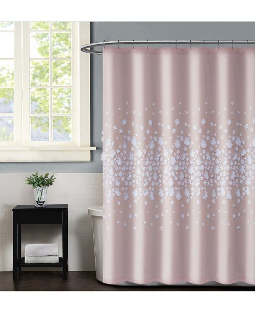 "Christian Siriano New York Christian Siriano Confetti Flowers 72"" x 72"" Shower Curtain"