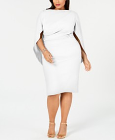 Plus Size White Party Dresses - Macy\'s