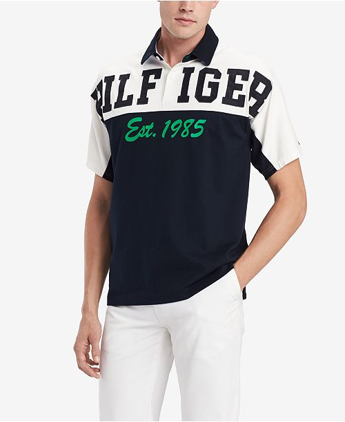 a296179a5 ... Tommy Hilfiger Men's Logo Graphic Rugby Polo, Created for Macy's ...