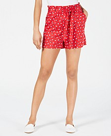 Printed Paper Bag Waist Shorts, Created for Macy's