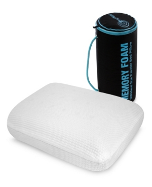 SensorPEDIC Memory Foam On-The-Go Travel Pillow with Duffle Carry Bag