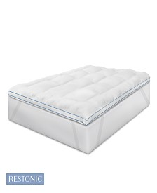 "Restonic 3"" Memory Fiber/Memory Foam Hybrid Mattress Topper Collection"