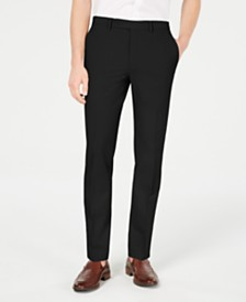 Calvin Klein Men's Slim-Fit Stretch Washable Suit Pants