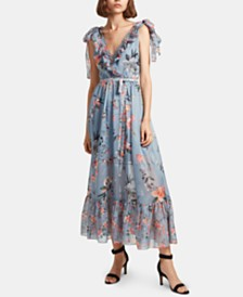 French Connection Cecile Floral-Print Ruffled Maxi Dress