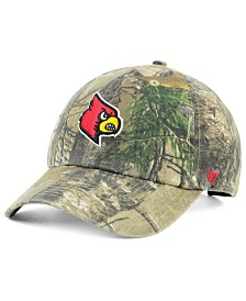 '47 Brand Louisville Cardinals Real Tree CLEAN UP Cap