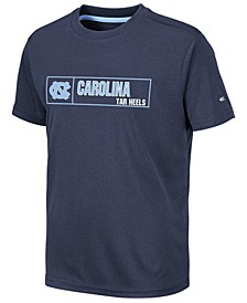 Big Boys North Carolina Tar Heels Boxed Logo Polyester T-Shirt