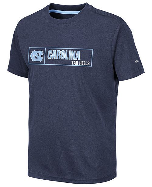 Colosseum Big Boys North Carolina Tar Heels Boxed Logo Polyester T-Shirt