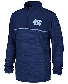 Colosseum Big Boys North Carolina Tar Heels Striped Mesh Quarter-Zip Pullover