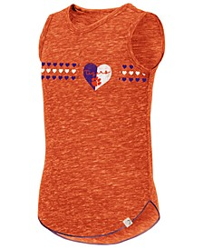 Big Girls Clemson Tigers Distressed Heart Tank Top