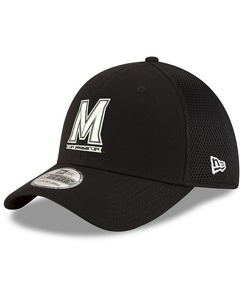New Era Maryland Terrapins Black White Neo 39THIRTY Stretch Fitted Cap
