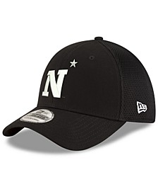 Navy Midshipmen Black White Neo 39THIRTY Stretch Fitted Cap