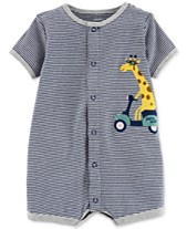 d197c5d76f67 Carter s Baby Boys Cotton Striped Giraffe Romper