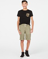 cdad8f8444 Epic Threads Big Boys Cams-Pocket T-Shirt & Stretch Twill Moto Shorts,