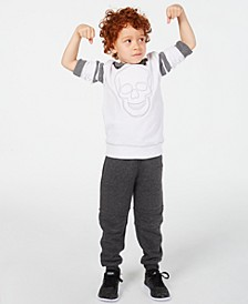 Little Boys Skull Hoodie & Knit Moto Joggers, Created for Macy's
