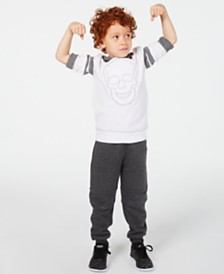 Epic Threads Little Boys Skull Hoodie & Knit Moto Joggers, Created for Macy's