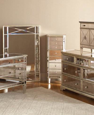 Marais Mirrored Furniture Collection - Furniture - Macy\'s