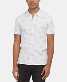 Kenneth Cole New York Men's Stretch Galaxy-Print Shirt