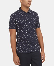 Kenneth Cole New York Men's Stretch Floral-Print Shirt