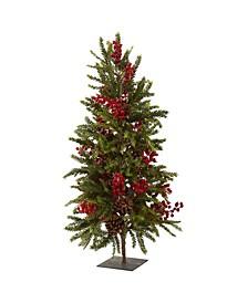 "36"" Pine and Berry Christmas Tree"