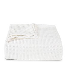 Vera Wang Waffleweave White Blanket, King