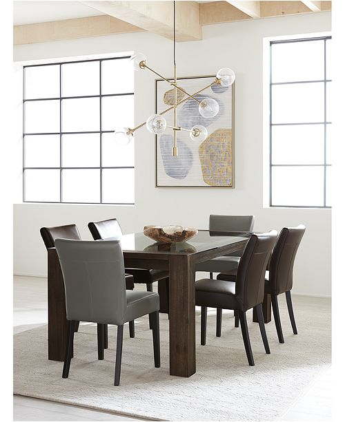 Furniture Tate Leather Parsons Dining Chair & Reviews ...