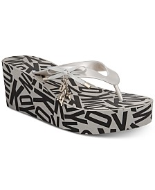 DKNY Nola Thong Wedge Sandals, Created for Macy's