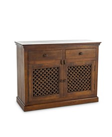 Haviv Traditional Solid Mango Wood Sideboard, Quick Ship