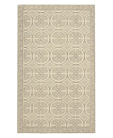 "Bale Stonewash Printed Cotton 30"" x 50"" Accent Rug"
