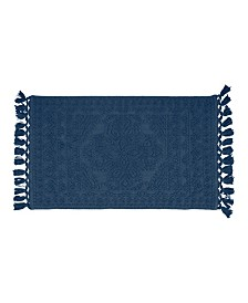 French Connection Nellore Fringe Cotton Bath Rug Collection