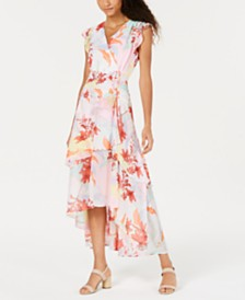 Bar III Printed Layered Maxi Dress, Created for Macy's