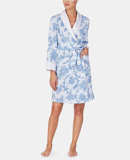 Lauren Ralph Lauren Flower-Printed Long Sleeve Robe