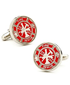 Firefighter Shield Cufflinks