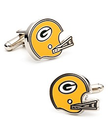 Retro Bay Packers Helmet Cufflinks
