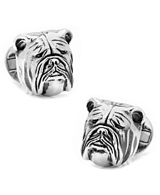 Sterling 3D Bulldog Cufflinks
