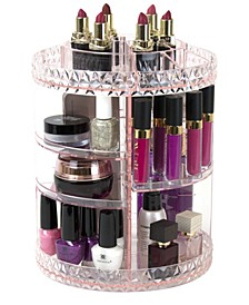 Rotating Makeup Organizer - 360 Degree Rotating Adjustable Carousel Storage