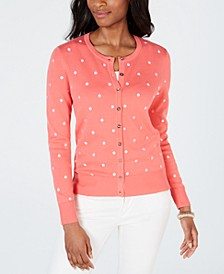 Printed Button-Down Cardigan, Created for Macy's