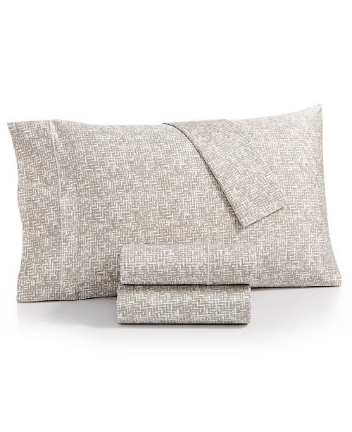 Charter Club CLOSEOUT! Sleep Luxe Cotton 800-Thread Count 4-Pc. Printed Extra Deep Pocket Queen Sheet Set, Created for Macy's