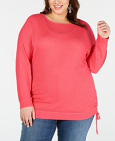 I.N.C. Plus Size Drawstring Sweater, Created for Macy's