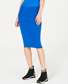 MICHAEL Michael Kors Ribbed Pencil Skirt