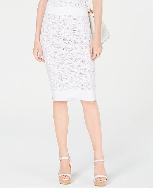 Michael Kors Sweater Mesh Pencil Skirt, Created for Macy's