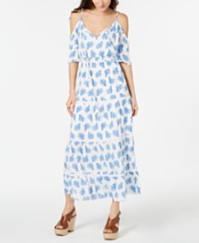 MICHAEL Michael Kors Painted Reef Maxi Dress, Regular & Petite Sizes