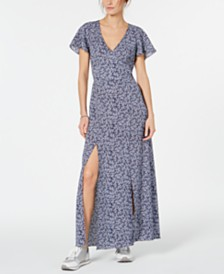 MICHAEL Michael Kors Double-Slit Printed Dress