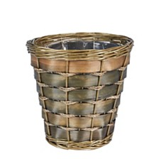 Household Essentials Small Haven Willow and Poplar Waste Basket