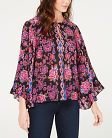 Nanette Lepore Printed Ruffled Top