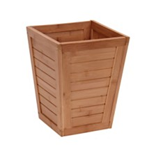 Household Essentials Small Bamboo Slat Trash Can