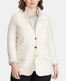 Plus Size Slim Fit Blazer
