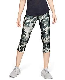 Women's Fly Fast HeatGear® Printed Cropped Running Leggings