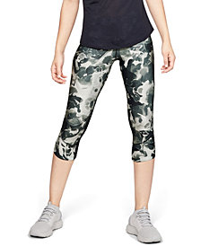 Under Armour Women's Fly Fast HeatGear® Printed Cropped Running Leggings